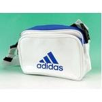 【2010商品】 adidas(アディダス) ミニエナメル ショルダーバッグ ホワイト×トゥルーブルー
