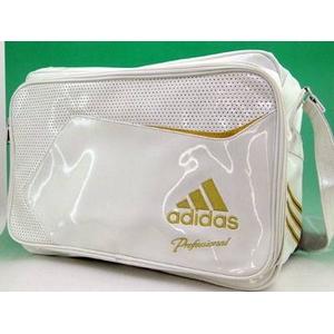 【2010商品】 adidas(アディダス) adidas Professional ベースボール ショルダーバッグ ホワイト×ライトオールドゴールド E37697