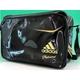 【2010商品】 adidas(アディダス) adidas Professional ベースボール ショルダーバッグ ブラック×ライトオールドゴールド E37698 写真1