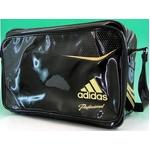 【2010商品】 adidas(アディダス) adidas Professional ベースボール ショルダーバッグ ブラック×ライトオールドゴールド E37698