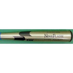 【2010年カタログ掲載商品】 SSK(エスエスケイ) 一般軟式用バット 『NINE FLASH』 ライトグリーンゴールド 85cm×700g平均