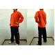 MIZUNO(ミズノ) ウォーマーシャツ&パンツ『上下セット』 オレンジ Mサイズ 写真1