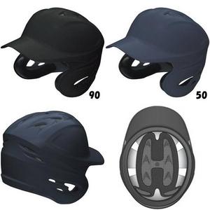 ★☆2010年モデル☆★ SSK(エスエスケイ) 硬式用両耳付きヘルメット(つや消し) 【NEWモデル】 Lサイズ マットブラック(90M)