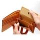 LORETO(ロレート) コードバンシリーズ 二つ折り財布(コインポケット付き) ブラウン 写真3