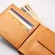 LORETO(ロレート) コードバンシリーズ 二つ折り財布(コインポケット付き) ブラウン 写真4