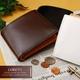 LORETO(ロレート) コードバンシリーズ 二つ折り財布(コインポケット付き) ブラウン 写真6