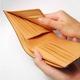 LORETO(ロレート) コードバンシリーズ 二つ折り財布(コインポケット無し) ホワイト 写真5
