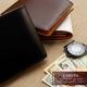 LORETO(ロレート) コードバンシリーズ 二つ折り財布(コインポケット無し) ブラック 写真6