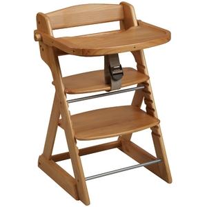 天然パイン材 ステップアップチェア テーブル&ガード付 (ナチュラル) ベビーチェア