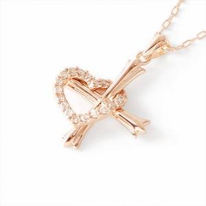 Beji(ベジ) hearts diamond/ネックレス ピンクーゴールド 【矢部美佳さん着用】