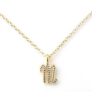 Beji(ベジ) K10ゴールド イニシャルMネックレス (天然ダイヤ付き) ホワイトゴールド TJ200910005BE