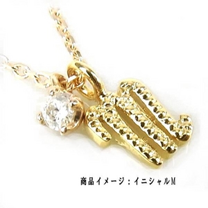 Beji(ベジ) K10ゴールドイニシャルR (天然ダイヤ付き)/ネックレス TJ200910005BE ホワイトゴールド