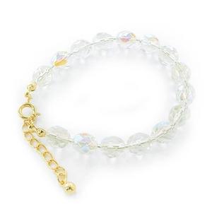 「ノベルティにもピッタリ」beads/ブレスレット(オーロラ色)10個セット