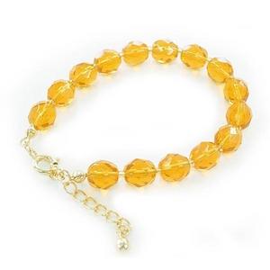 「ノベルティにもピッタリ」beads/ブレスレット(トパーズ色)10個セット