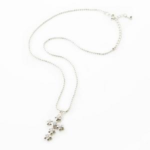 Beji (ベジ) star cross/ネックレス/Sparkle Silver×White Star【czダイヤ】【網戸もえさん着用】の写真2