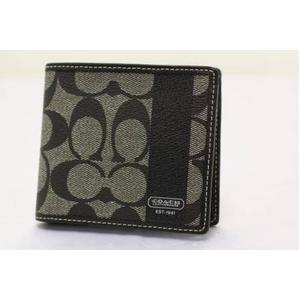 COACH(コーチ) 財布(二つ折り財布) メンズヘリテージ シグネチャー F74084SBWBK