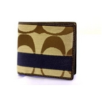 COACH(コーチ) 財布(二つ折り財布) メンズシグネチャー C ストライプ ダブルビルフォード コイン ウォレットF74246KH/DE
