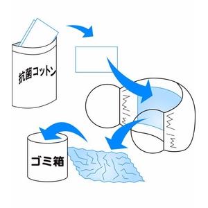 ZAT抗菌デザインマスク 交換用抗菌コットン (15枚) 【120個セット】