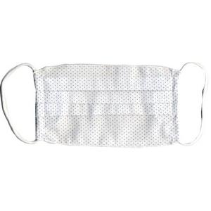 ZAT抗菌デザインマスク + 抗菌スプレー ×3個セット 【大人用 ドット ブルー】
