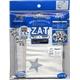 ZAT抗菌デザインマスク + 抗菌コットン×12個セット 【大人用】スター シルバー/白