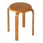 木製丸椅子 スタッキングチェア(ライトブラウン)