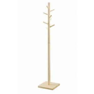 ポールハンガー/ポールスタンド 【ナチュラル】 木製/天然木 高さ160cm NA