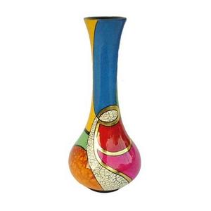 花瓶/フラワーベース 線がき模様 木製(漆塗り) (工芸品/インテリア雑貨) FV-H26