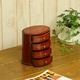 小物入れ(小引出し)/オーバルドロワー オーバル型 4段M 木製(天然木)