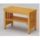エントランスベンチ(小) 木製 棚収納付き [室内/屋外/玄関/ガーデニング] CS-8025 ナチュラル