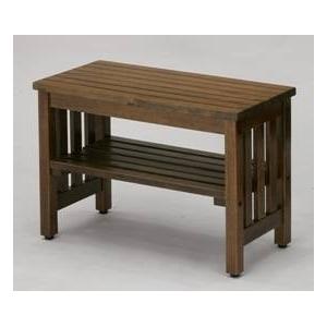 木製ベンチ エントランスベンチ(小) ブラウン - 拡大画像