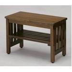 木製ベンチ エントランスベンチ(小) ブラウン