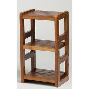 木製オープンラック/収納棚 【2段】 棚板/調節可 幅25cm×奥行22.5cm HIQ-2545 BR ブラウン