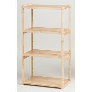 オープンラック 木製 3段 棚板/調節可 幅60cm×奥行31cm HIQ-60110 NA ナチュラル - 拡大画像