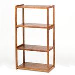 木製オープンラック/収納棚 【3段】 棚板/調節可 幅60cm×奥行31cm HIQ-60110 BR ブラウン