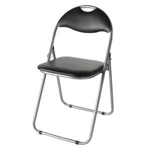 折りたたみパイプ椅子スチール背もたれ付き(会議用椅子/ミーティングチェア)IK-0102