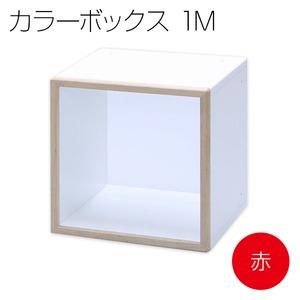 カラーボックス キューブボックス ディスプレイボックス IKO-BOXイコウボックス 1M 赤(片面タイプ)