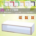 カラーボックス キューブボックス ディスプレイボックス IKO-BOXイコウボックス 2L 緑(片面タイプ)