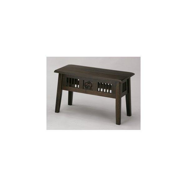 アジアンベンチ 木製 アジアンテイスト (ベンチ/踏み台/飾り棚) bs-7902