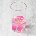 アクリル製フリーカップ/洗面所用具 【ピンクオーキッド】 造花