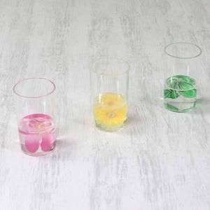 アクリル製フリーカップ/洗面所用具 【ひまわり柄】 造花