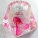 アクリル製トイレブラシ/トイレ掃除用具 【ピンクオーキッド】 造花 - 縮小画像2