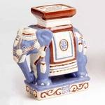 インド象の置物 象プランター台  X-070