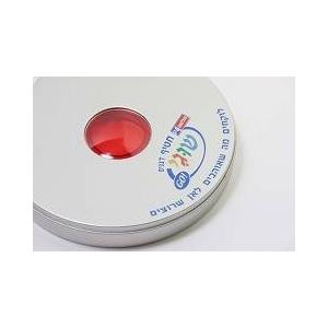 ポータブルCDケース 【CD10枚収納可能】 レッド(赤)