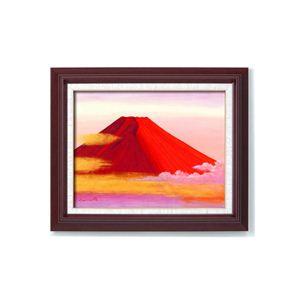 風景専門店あゆわら 《手描き油絵》丹羽勇 油絵額 F6 「赤富士」 - 拡大画像