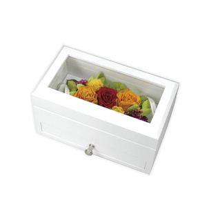 《プリザーブドフラワー》コレクションボックス ホワイト - 拡大画像