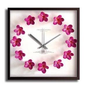 風景専門店あゆわら 《掛時計》Plumeria Clock Pink(プルメリアクロック/ピンク) - 拡大画像