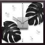 F-style Clock Monstera deliciosa/Sumi(モンステラ・デリシオサ)