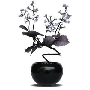 風景専門店あゆわら 《人工観葉植物・造花》F-style Vase Shiso(シソ) - 拡大画像