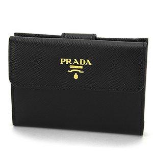 PRADA(プラダ) 二つ折り財布 ポルトフォイユ 1M0523 SAFFIANO/METAL NERO - 拡大画像