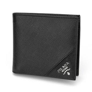 PRADA(プラダ) 二つ折り財布 2M0738 SAFFIANO/METAL NERO - 拡大画像
